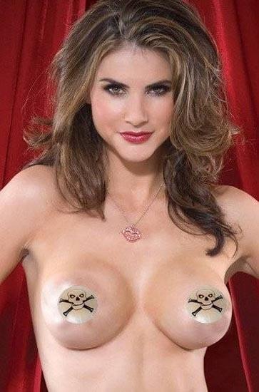 2013 Free shipping 1PCS Sexy Skull Nipple Covers L9708
