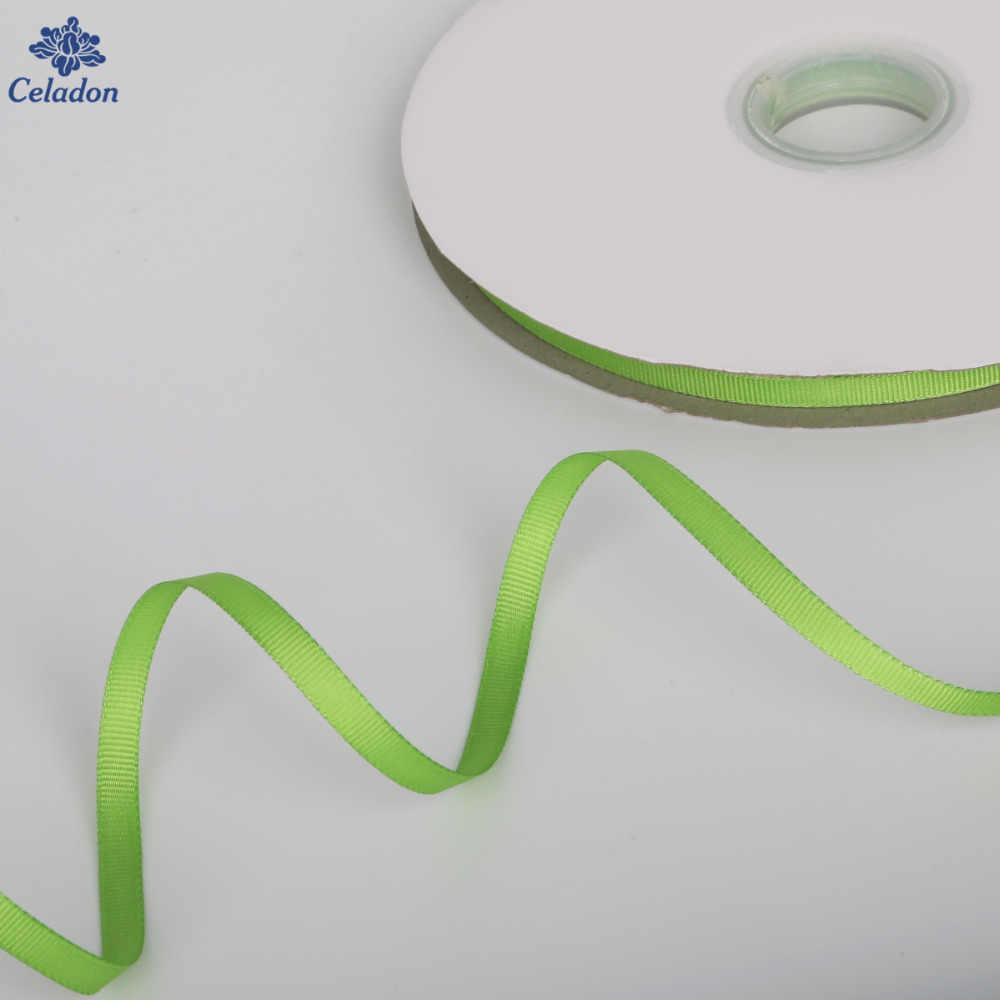 5หลา/กว้าง7มิลลิเมตร10มิลลิเมตร15มิลลิเมตร20มิลลิเมตร25มิลลิเมตร38มิลลิเมตรPeridotสีG Rosgrainริบบิ้นขายส่งกระดาษห่อของขวัญตกแต่งคริสต์มาสริบบิ้น