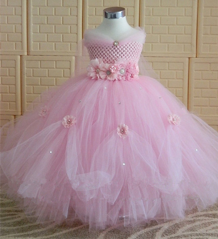 Flower Girls Unicorn Tutu Dress Pastel Rainbow Princess Girls Birthday Party Dress Children Kids Halloween Unicorn Costume gown pastel girls flower unicorn tutu dress sweet girl birthday party dress children kids tulle princess dress fancy unicorn costume