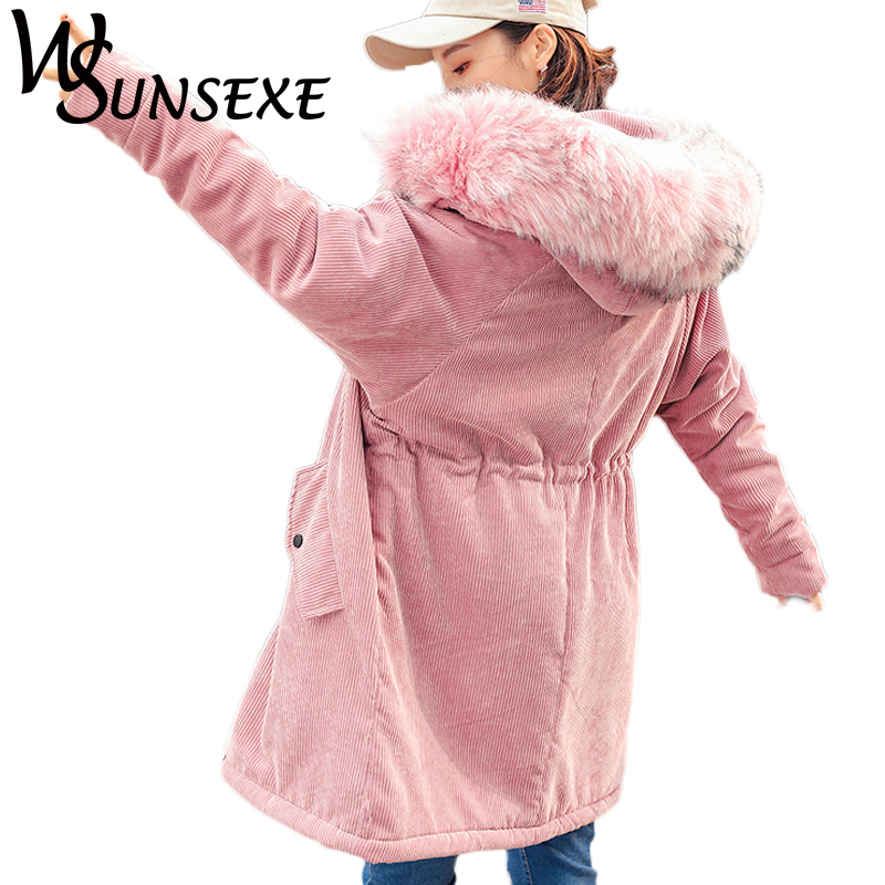 Fashion Parkas Jackets Winter Warm Faux Fur Hooded Long Coat Women 2017 New Autumn Casual Slim Pink Parka Hoodies Outwear Jacket цены онлайн