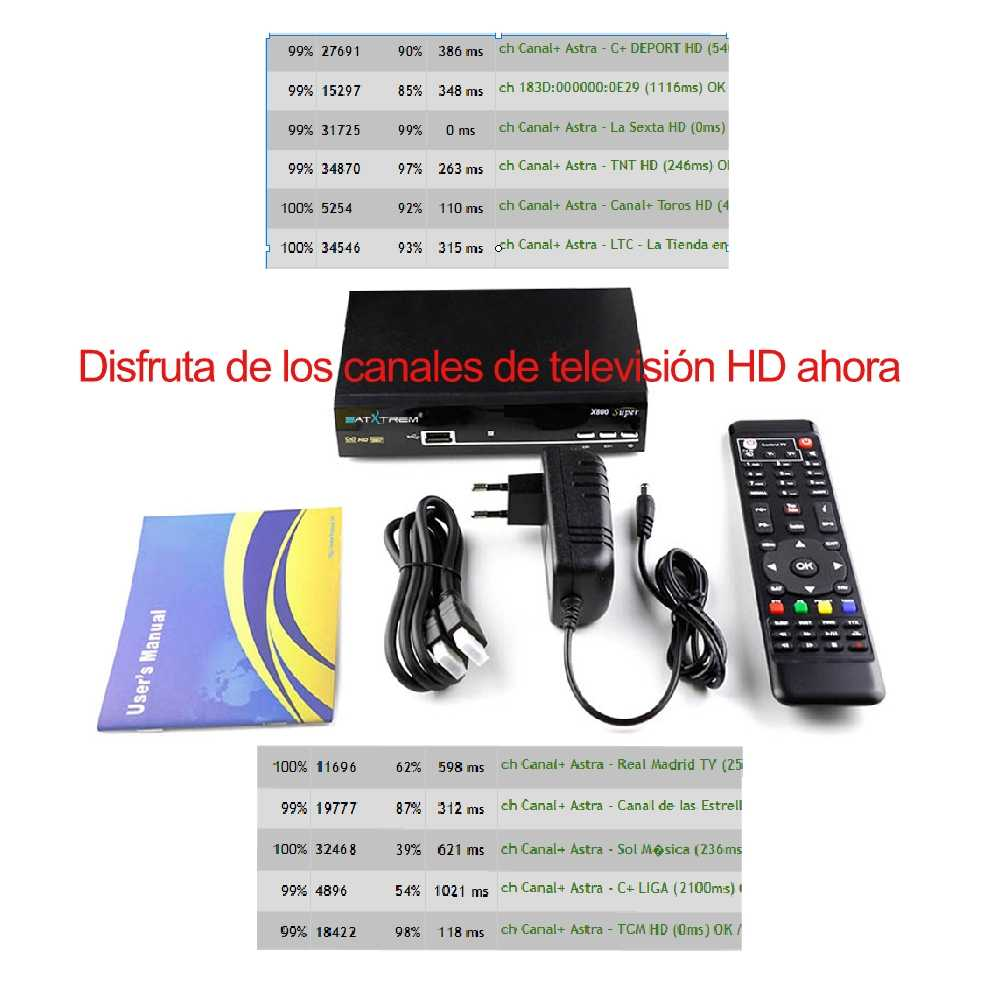 Récepteur TV Satellite décodeur tv satelital gratis aléa récepteur numérique satelite cccam espa espagne lineas clines serveur hd