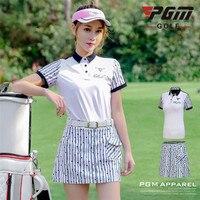 PGM Golf Trainning T Shirts Womens Top Shirt Short Sleeve Golf T shirt Dry Fit Sportswear Tennis Skirt Golf Clothes