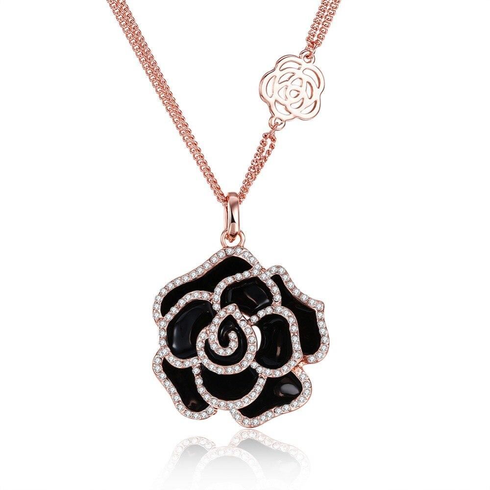 Collier en pétale de rose cristallisée p ...