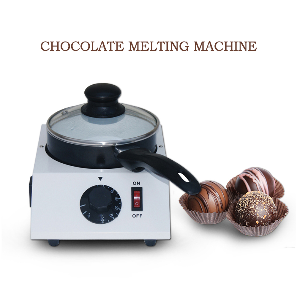 ITOP 40W Mini Electric Chocolate Melting Machine Ceramic Non-Stick Pot Tempering Cylinder Melter Pan 220V(Single Pan)