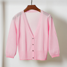 Knit Cardigan Size M-4XL Summer Women Knitting Short Sweaters Coats Female Knitted Thin Cardigans Outwear for Woman
