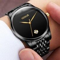 Швейцария часы Для мужчин бренд oyalie Роскошные Простое розовое золото Наручные часы Tourbillon сапфир зеркало автоматические механические часы