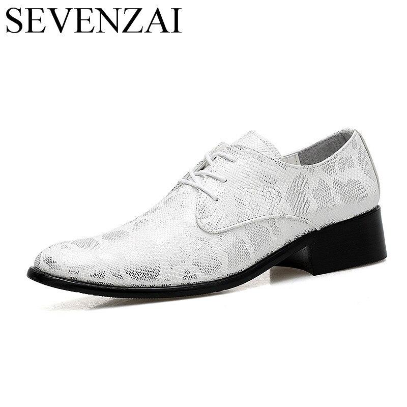 Разноцветные мужские туфли из змеиной кожи, модная повседневная мужская обувь, увеличивающая рост, свадебные туфли-оксфорды для мужчин
