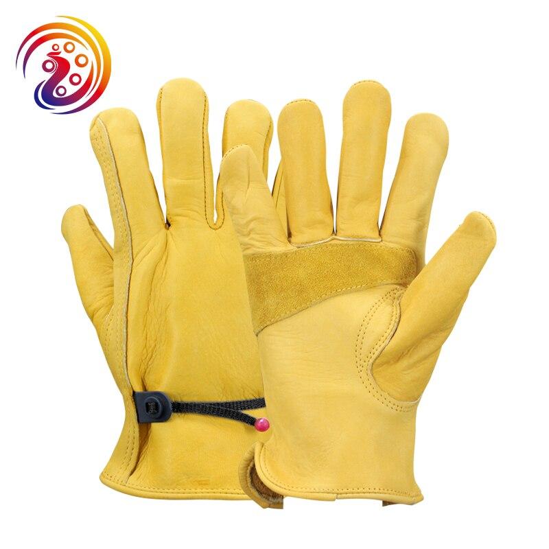 OLSON DEEPAK Arbeit Handschuhe Rindsleder Fabrik Fahrer Klettern Gartenarbeit Schutz Handschuh HY018