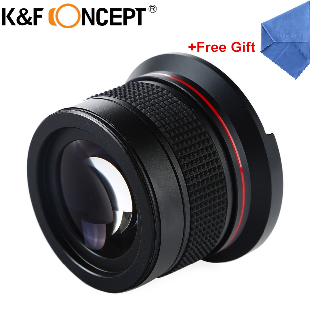 K&F CONCEPT 58MM 0.35X Fisheye Macro Wide Angle Lens Ultra Clear Blue Film Coated For DSLR Lenses Camera Canon 600d Nikon Sony image