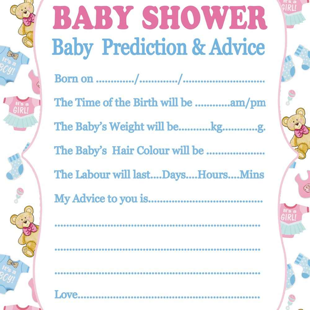 Fengrise Baby Shower Card Prediction