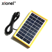 Xionel 3W 9V Solar Cell Solar Module Polycrystalline DIY Solar Panel System For 6V Battery Charger +DC 5521 Cable 3M