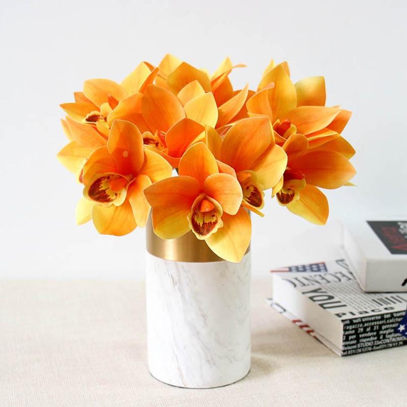 Artificial Flowers Orchid Wedding Bouquets Bridal Bouquet Mariage