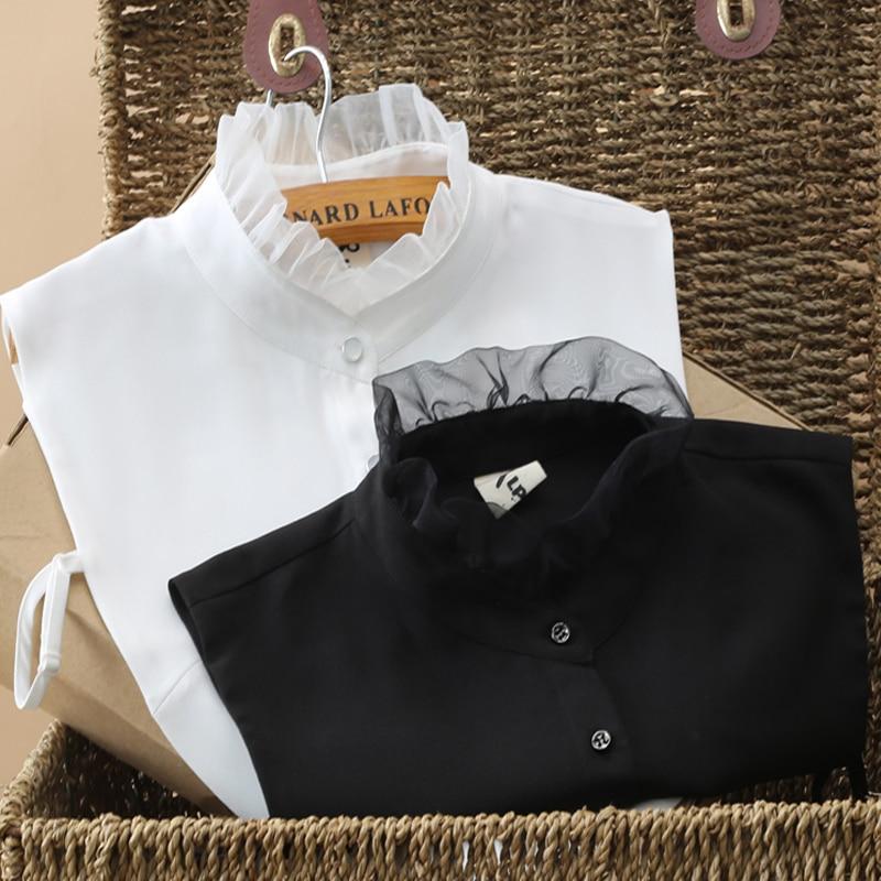 Sweater False Collar Black And White Necklace Collar For Spring Blouse Detachable False Collar Faux Col Chemisie Vintage Lapel