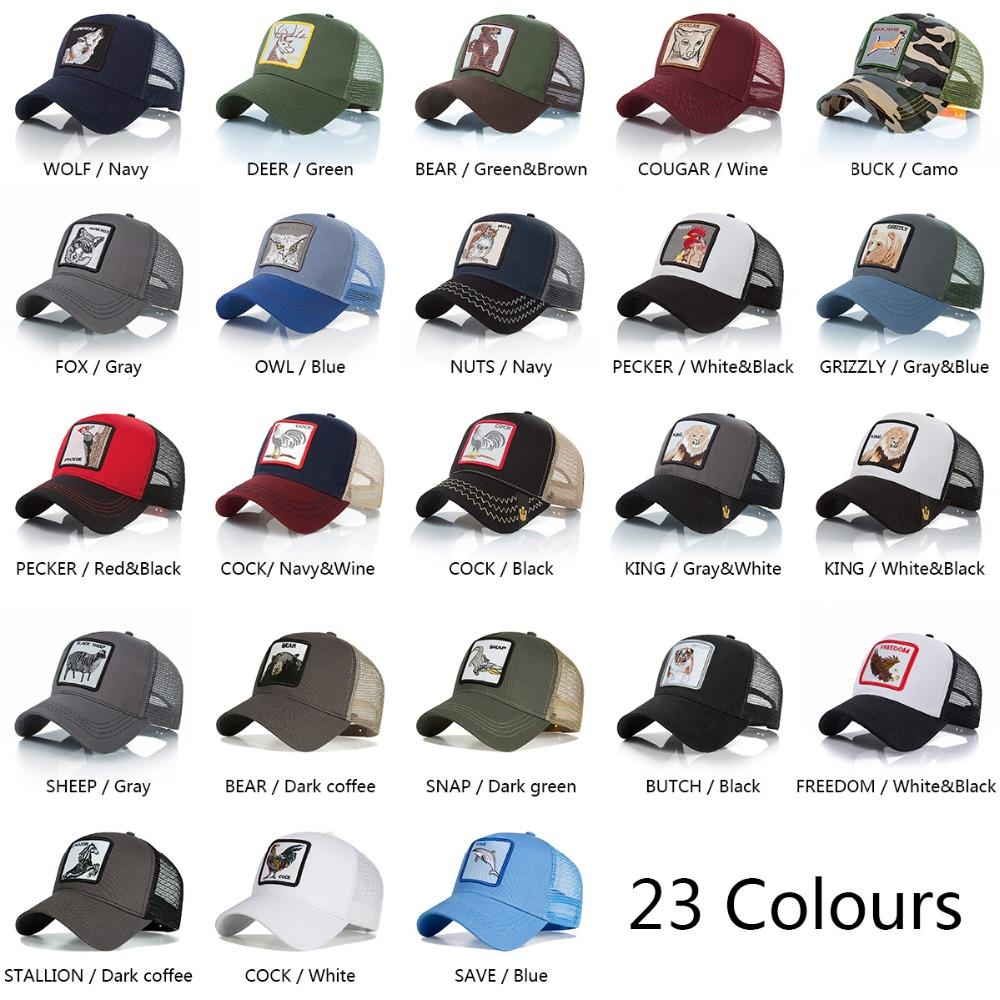 8455226de Fashion Embroidery Baseball Caps gorra animal Hat Men Women Snapback Hip  Hop Summer Breathable Mesh Sun Gorras Streetwear