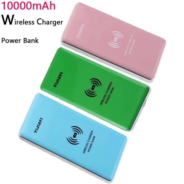 10000 мАч Ци Беспроводное Зарядное Устройство Power Bank USB Power Bank Для Samsung s6 edge s7 Беспроводной Портативный Банк Силы Быстрого Заряда