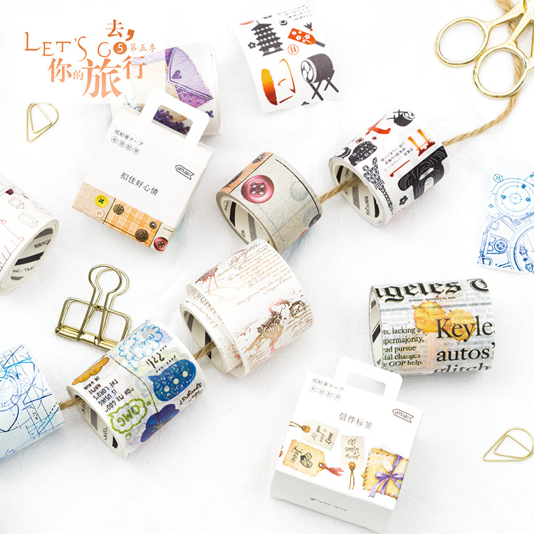 Journey Theme Washi Tape DIY Decor Scrapbooking Sticker Masking Paper Decoration Tape Adhesive School Supplies