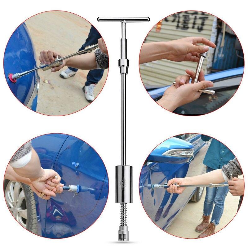Купить PDR Tools Kit Дент Удаления Paintless Дент Ремонт Инструменты Дент съемник Обратным Молотком Присоски Металлического Алюминия Вкладки Ручной Инструмент набор дешево