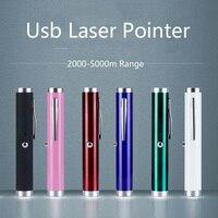 Mini USB Opgeladen Groene Laser Pointer 5 MW 532NM Heldere Enkele Groene Lazer Pen Groothandel op