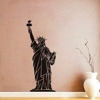 New York Statue Of Liberty Tường Sticker Kích Thước Lớn Mang Tính Bước Ngoặt Xây Dựng Pvc Hollow Out Removable Tự Dính Hình Nền Trang Trí Nội Thất