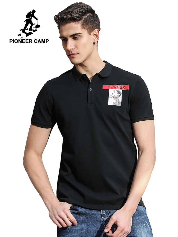 Pioneer Camp New style short sleeve   Polo   shirt men brand clothing fashion printed   Polos   male top quality 100% cotton ACP702148