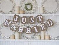245センチ熱い販売ヴィンテージ結婚式の装飾フラグ花輪ウェディングバナー付きホワイトリボンパーティー装飾(ちょうど結婚)