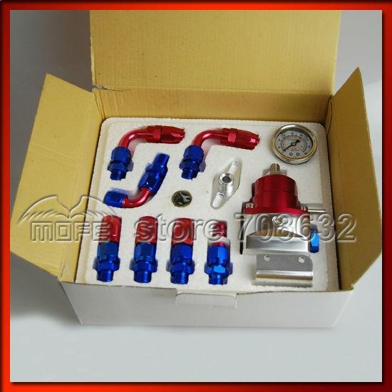 ФОТО Full Kit Fuel Regulator Kit With White Gauge Range: 0-160 PSI / 0-11 Bar /0-1100 KPA