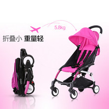 Foldable Baby Stroller,Baby Carriage Pram Cart,Portable Lightweight Stroller,Folding Ultra Light Umbrella Baby Stroller Children