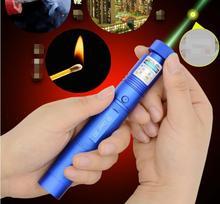 Hot! green laser pointers 100000mw 532nm high power lazer Beam lasers 303 flashlight Burning Matches & Light Cigarettes+safe key
