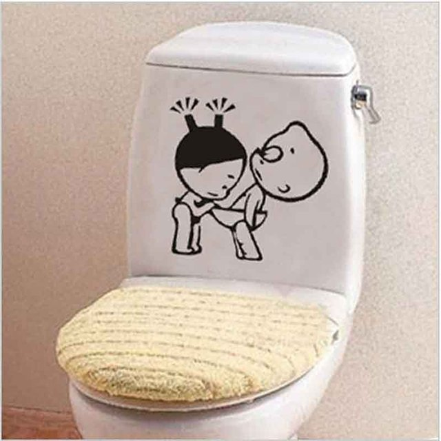 Anime Doll Diy Bathroom Toilet Stickers Pvc Wall Fridge And Washing Machine Sticker Home