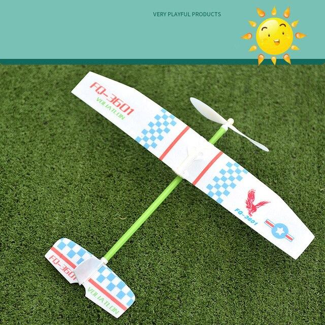 Резиновые ленты силовые самолеты ручной запуск метание пены инерционный планерный самолет игрушки для детей рождественские подарки