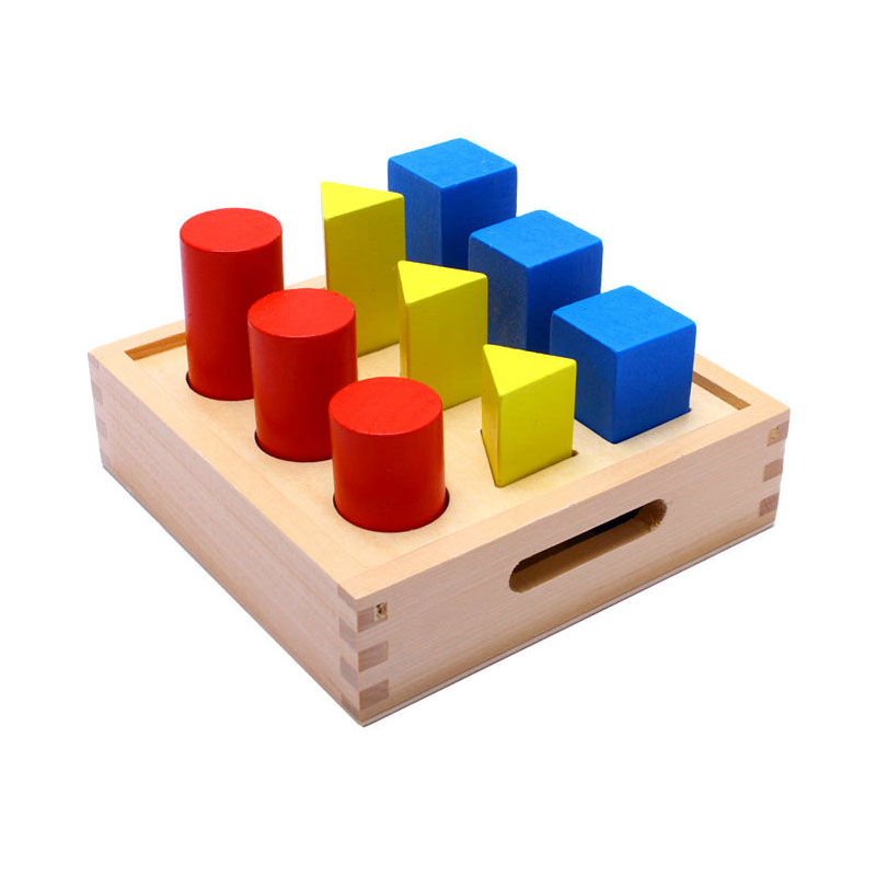 Home Wooden Montessori Toys Baby Subject Red Ball Box Preschool Learning Educational Toys For Kids Juguetes Brinquedos Me2264h