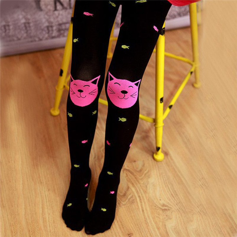fashion good quality polyester pantyhose kids sweet cartoon lovely girls socks meia infantil dropshipping 3OT12 (7)
