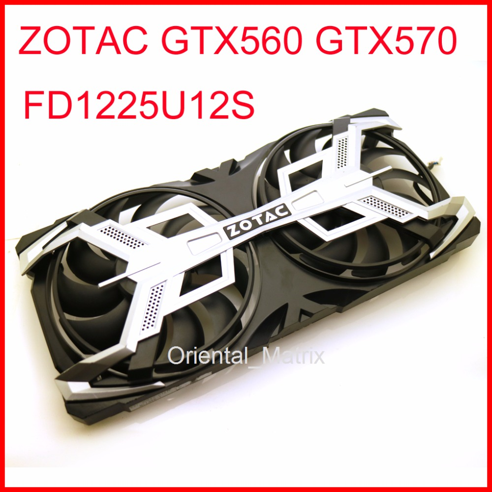 FD1225U12S 110mm 12V 0.58A 4Pin Cooler For ZOTAC GTX560 GTX570 Graphics Card Cooling Fan 2pcs lot ga81s2u 12v 0 38a 75mm 4pin apistek cooler fan for zotac gtx960 4g pci edc graphics card fan