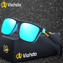 VIAHDA Mode Unisexe Carré lunettes de Soleil Polarisées hommes Femmes Design  Rétro Miroir objectif lunettes de 158f8dc1cf40