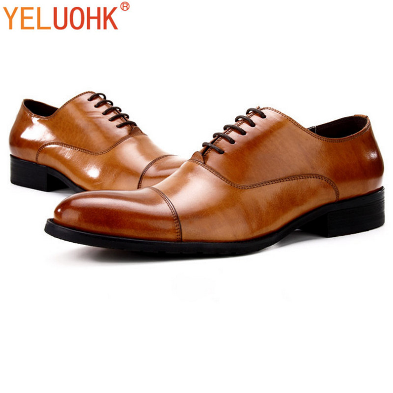 Genuine Leather Oxfords Shoes For Men Dress Shoes Top Quality Men Shoes Formal