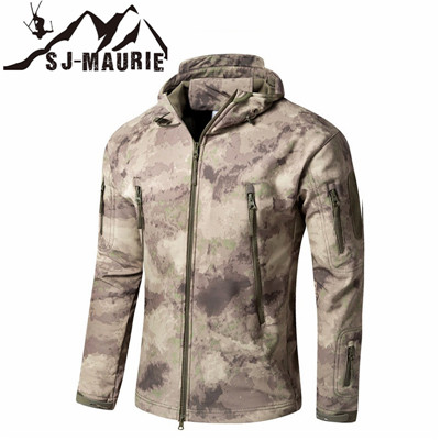 SJ-MAURIE  Men Winter Fleece Jacket Softshell Hiking Jacket Military Tactical Jackets Waterproof Hunting Clothes Fishing Jacket