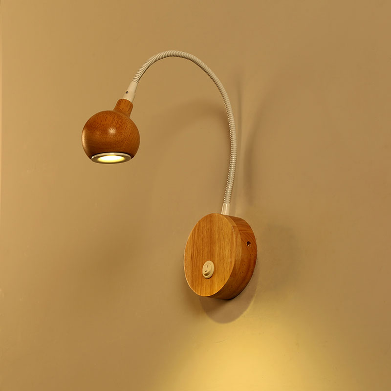 Nordic creative led wall lamp solid wood sconce study bedroom bedside corridor simple modern reading wall light 0051 classic modern soap bubble creative wall lamp bedroom study bedside soap bubble wall light free shipping