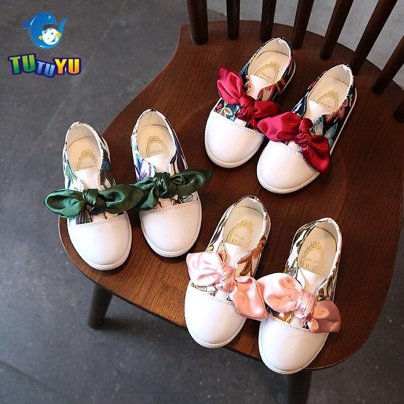 Tutuyu/Новая Осенняя модная детская одежда Обувь Вышивка принцессы Обувь для милых девочек