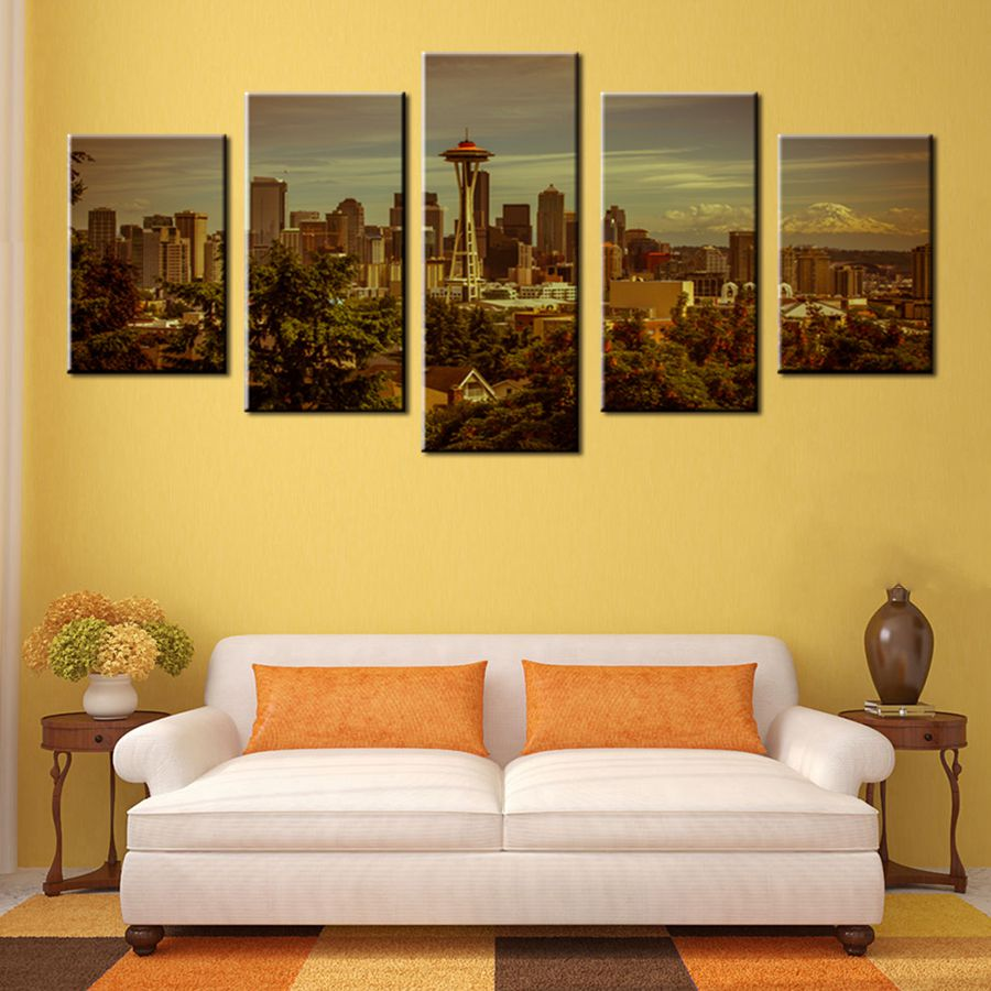 Large Good Quality City Landscape Scene Photo Print Artwork for ...