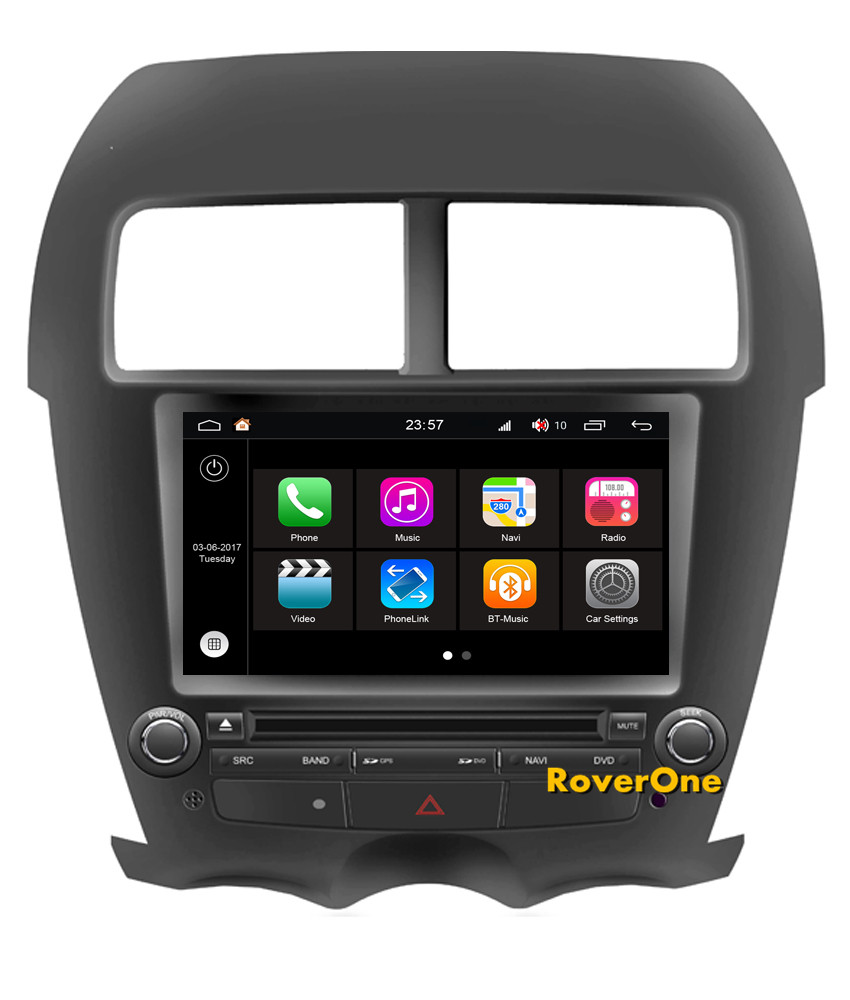 roverone android 7 1 car multimedia system for mitsubishi. Black Bedroom Furniture Sets. Home Design Ideas