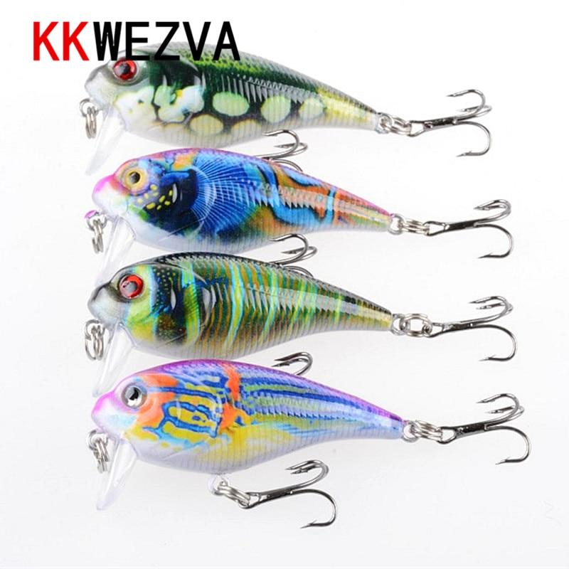 KKWEZVA 9G 5,5cm Nové Temptation Rybářské návnady Minnow Crank Bait Crankbait Bass Tackle Treble Hook návnada woblery rybaření
