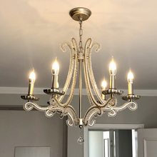 chandelier for living room hanging modern pendant ceiling lamps scandinavian Nordic crystal Silver led suspension luminaire