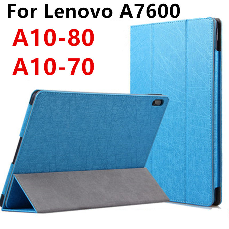 Case For Lenovo TAB A10-70 A7600 Smart cover Protector Faux Leather Tablet For Ideatab A10-80 10.1 inch Protective Sleeve Cases case for lenovo tab 4 10 plus protective cover protector leather tab 3 10 business tab 2 a10 70 a10 30 s6000 tablet pu sleeve 10