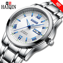 HAIQIN Top brand luxury Mechanical Men watches waterproof steel clock military sports Male wristwatch winding-self Reloj hombres