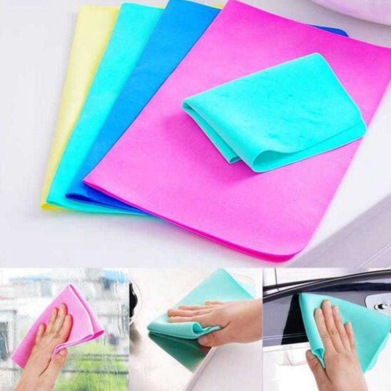 2 pcs Colorful Magic Car Washing Wipe Towel Cloth Absorber Synthetic Chamois Leather