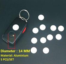 5 uds 14mm clave pegatina para coche VW Toyota Peugeot Benz Opel Audi Ford Honda Mazda Hyundai KIA Fob insignia de botón de Radio
