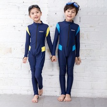 Neoprene Long Sleeves Kids Wetsuits Diving Boys Girls Children Rash Guards One Pieces Surfing Swim Snorkel new 2mm neoprene swimsuit kids baby girls boys wetsuits one piece diving suits snorkeling surfing rash guards children swimwear