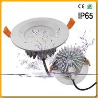 2 יחידות IP65 עמיד למים LED Downlight 7 W 9 W 12 W 15 W 30 W 50 W 60 W הוביל נקודת אור עבור חדר רחצה LED שקוע מנורת תקרת AC 220-265 V