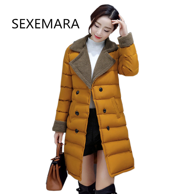 Women's winter Cotton jacket 2017New  High Quality fashion Overcoat Long section Quilting thick warm parka Female outerwearLU345 arbitmatch fashion winter jacket women 2017 thicken overcoat high quality quilting cotton coat ladies parka warm hood outwear