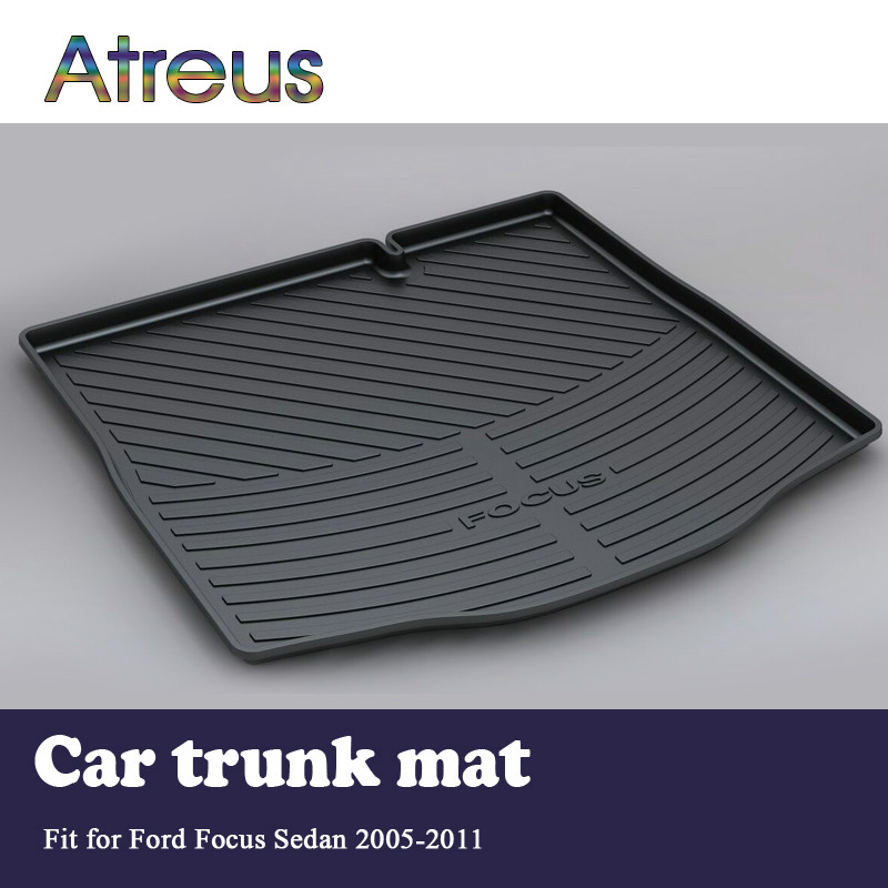 Atreus For 2005 2006 2007 2008 2009 2010 2011 Ford Focus mk2 2 Sedan Accessories Car Rear Boot Liner Trunk Cargo Mat free shipping waterproof fiber leather car floor mats for ford focus mk 2 2nd generation 2004 2010 2009 2008 2006 2005